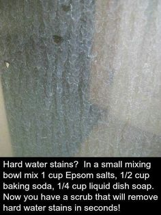 """""""Miracle Mix"""" for hard water stains. We tried this. It really works."""