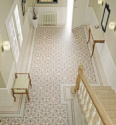 22 Ways To Tile Your Home & Top Tiling Tips | hallways are also a fun place to play with colour and pattern as we don't dwell in them for too long. Hallways also offer you the chance to get creative. Although I'd recommend you try and incorporate an element or two from connecting rooms such as a colour, pattern or texture. #hallways #hallwaydecor #floortiles #tiles #tiledecor #patternedtiles #homedecor #flooringideas #floors #tileinspo #interiors #interiorinspo #hallwayinspo #interiordesign