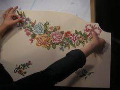 I'M USING THIS PRINT ROOM PAPER  CALAMBOUR  PR 32 FOR DECORATE A BED STEP 5