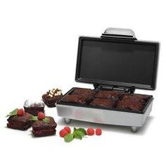 Appareil à Brownies - 6 par cuisson - Revêtement anti-adhésif - Recettes incluses - Spatule