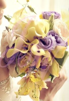 #Yellow and #Purple #Bouquet