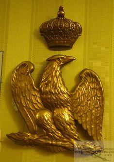 Plaque de giberne des grenadiers à pied de la garde Napoleon, Plaque, Tarot, Empire, Wall Lights, Wings, French, Inspiration, Decor