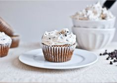 Chocolate Chip Oatmeal Cupcakes with Cinnamon Sugared Chip Frosting