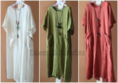 WORLDWIDE FREE SHIPPING Women Linen Dress 3 Colors Long sleeved dress pure color Long Maxi dress natural boho dress woman lagenlook loose by FlowersButterflies15 on Etsy Sleeved Dress, Boho Dress, Pure Products, Shirt Dress, Free Shipping, Woman, Trending Outfits, Natural, Colors