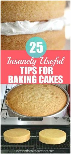 25 insanely useful tips for baking cakes. With these tips, you can bake cakes that come out great every time. 25 insanely useful tips for baking cakes. With these tips, you can bake cakes that come out great every time. Food Cakes, Baking Cakes, Cupcake Cakes, Muffin Cupcake, Rose Cupcake, Bread Baking, Baking Soda, Baking Secrets, Baking Tips