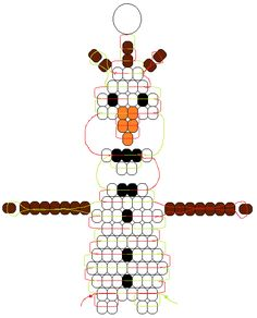 Olaf – Pony Bead Frozen pattern designed by Margo Mead - Best DIY and Crafts 2019 Pony Bead Projects, Pony Bead Crafts, Pony Bead Animals, Beaded Animals, Pony Bead Patterns, Beading Patterns, Beaded Jewelry Patterns, Bracelet Patterns, Stitch Patterns