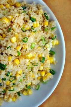 25 Quinoa Recipes That Are Actually Delicious - Eat. - 25 Quinoa Recipes That Are Actually Delicious Quinoa with Corn and Scallions with Honey Butter Dressing Food For Thought, Think Food, I Love Food, Vegetarian Recipes, Cooking Recipes, Healthy Recipes, Quinoa Recipes Easy, Cooking Tips, Quinoa Dinner Recipes