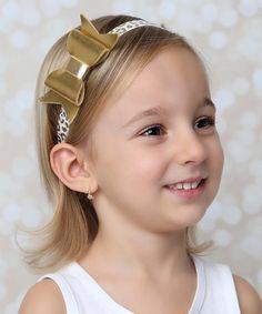 Look at this #zulilyfind! Gold Bow Headband #zulilyfinds