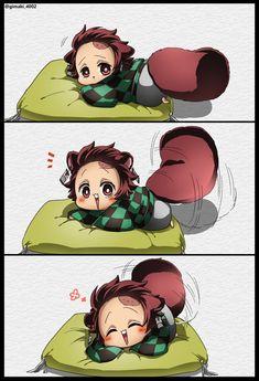 Kimetsu No Yaiba Doujinshi Cute Anime Chibi, Me Anime, Cute Anime Pics, Anime Demon, Otaku Anime, Kawaii Anime, Anime Guys, Animes Yandere, Fanarts Anime