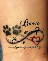 Image result for paw print tattoo images on foot
