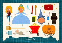 12 Famous Fairy Tales in Pieces by Simone Massoni, via Behance