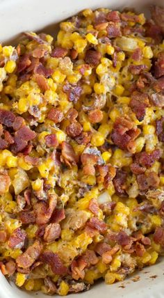 corn and bacon casse