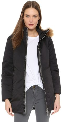 Add Down Down Hooded Parka With Fur