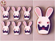 Biscuits Lapins Crétins - Raving Rabbids cookies - Un Jeu d'Enfant Cake Design Nantes