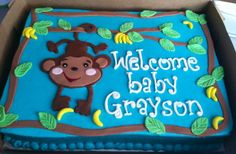 Monkey baby shower cake!