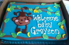 Monkey baby shower cake!