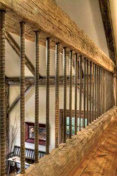 Rebar for rustic railing- love!