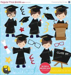 40 OFF SALE Graduation boys clipart by Prettygrafikdesign on Etsy, #prettygrafik #graduationclipart