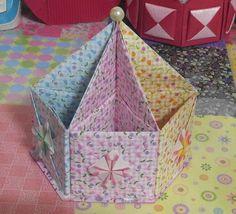 505.육각연필꽂이만들기.오월의장미.origami