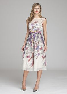Introducing our new mother of the bride/ groom, wedding chic, Chiffon Floral Printed Dress