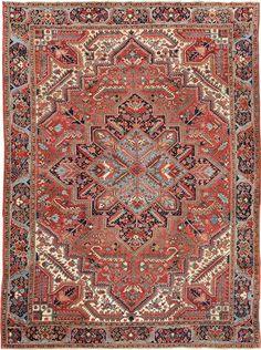 """OLD HERIZ Origin: IRAN Size: 9' 7"""" x 12' 10"""" Rug ID # 660"""