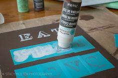 DIY Chalkboard Sign – Use a stencil and liquid chalk