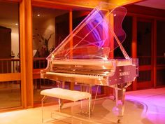 "Cinderella ""glass slipper"" baby grand."