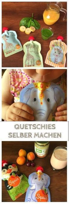 Quetschies selber machen: Rezepte für Quetschbeutel Doing squash yourself is not difficult. I show you delicious recipes for smoothies that are suitable for the baby and toddler. Healthy Drinks For Kids, Healthy Smoothies, Smoothie Recipes, Healthy Snacks, Healthy Recipes, Snacks List, Baby Snacks, Toddler Meals, Kids Meals