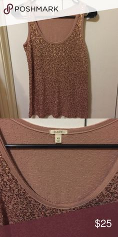J Crew Rose Gold Sequin Tank Rose Gold sequin tank from J Crew. Very pretty, only worn a few times J. Crew Tops Tank Tops
