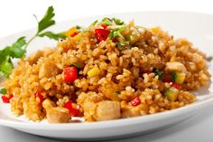 Grilled Pork with White fried rice; Enjoy the grilled pork chunks with your favorite fried rice. Chicken Fried Rice Recipe Easy, Fried Chicken, Chicken Recipes, Ip Chicken, White Chicken, Top Recipes, Rice Recipes, Asian Recipes, Dishes Recipes