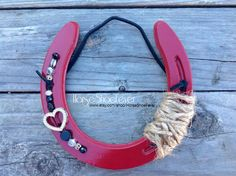 Red Cowgirl Horseshoe. - Western Home Decor.