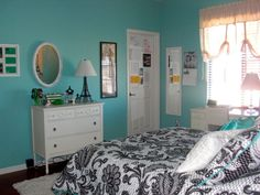 Pretty Teen Rooms cool blue and white themes design room for teenage girls with