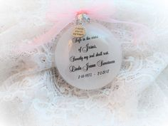 In Memory Christmas Ornament, Safe in the Arms of Jesus, Free Personalization and Charm In Memory Christmas Ornaments, Memorial Ornaments, How To Make Ornaments, Glass Ornaments, Christmas Crafts, Charmed Show, M M Candy, To My Mother, Own Quotes