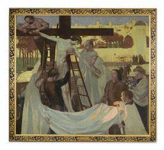 Artwork by Maurice Denis, DESCENTE DE CROIX, Made of oil on canvas