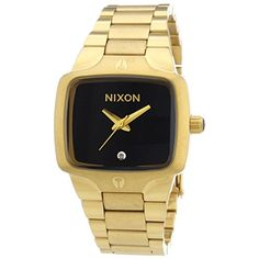 Play your games in style and on time with the #Nixon Women's Small Player Watch. With a real diamond that makes this precious watch a new best friend, and a two-...
