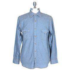 Men's Ryan Michael Prescott Scroll Jacquard Shirt at Maverick Western Wear