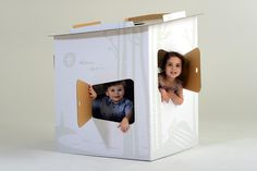 Tinyfolk Picture Playhouse - a durable cardboard playhouse for hours of imaginative play! Constructs and flat packs in minutes. Shop at  www.tinyfolk.com.au