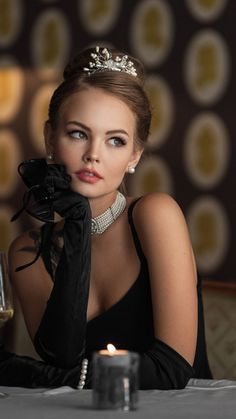 Black dress, beautiful, girl model, Anastasia Scheglova, 720x1280 wallpaper