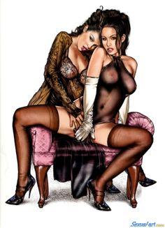 Две любовницы лесбиянки
