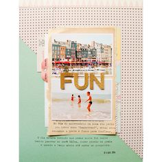 Inspired Friday 018 - Fun Scrapbook Layout by #baersgarten
