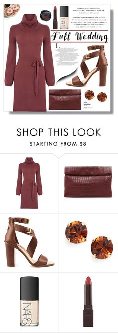 """""""Fall Wedding"""" by jessinerio4l ❤ liked on Polyvore featuring Oasis, Marie Turnor, Dolce Vita, L. Erickson, Burt's Bees, Bobbi Brown Cosmetics and fallwedding"""