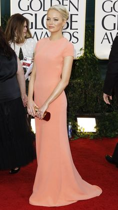 Emma Stone - Golden Globe Awards 2011 Calvin Klein