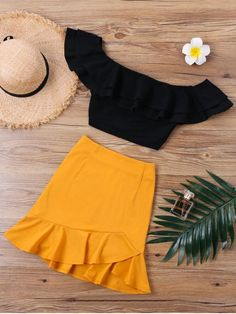 Up to 80% OFF! Ruffle Off Shoulder Skirt Two Piece Set . #Zaful #TwoPieces zaful,zaful outfits,zaful dresses,spring outfits,summer dresses,Valentine's Day,valentines day ideas,valentines outfits,cute,casual,classy,lace,mesh,fashion,style,bottoms,shorts,jumpsuits,rompers,playsuits,playsuit outfit,dressy jumpsuits,playsuits two piece,two piece outfits,two piece dresses,dresses,printed dresses,sundresses,long sleeve dresses,mini dresses,maxi dresses,lace dress @zaful Extra 10% OFF Code:ZF2017