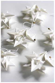 Fold it paper stars. I wish I could find the pattern to these!