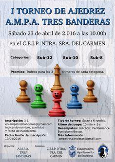 Cartel I Torneo de Ajedrez AMPA Tres Banderas https://www.behance.net/gallery/35653467/Cartel-I-Torneo-de-Ajedrez-AMPA-Tres-Banderas-Estepona