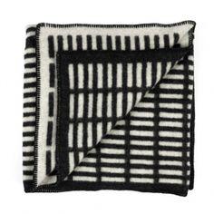 Siena blanket, black-white