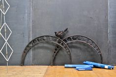 Giant Black Perforated Arc Sculptures : 20th Century Vintage Industrial Modern50 Style. Would make great table legs.