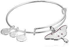 Alex and Ani Luna Moth Expandable Rafaelian Yellow Bangle Bracelet >>> Additional info @ http://www.amazon.com/gp/product/B01CL29PAK/?tag=splendidjewelry07-20&pno=180716004729
