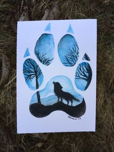 Excited to share the latest addition to my shop: Wolf Paw Print - Wolf Print - Watercolor Wolf Paw Print - Wolf Art Wolf Paw Print, Paw Print Art, Art Prints, Wolf Painting, Eye Painting, Canvas Painting Projects, Art Projects, Wolf Canvas, Canvas Art