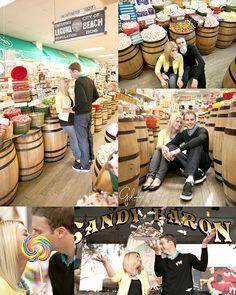 Candy Shop Engagement Photo Session – Laguna Beach Photographer, Engagement Photography, Gilmore Studios, Kiss, Love, Engagement, Candy